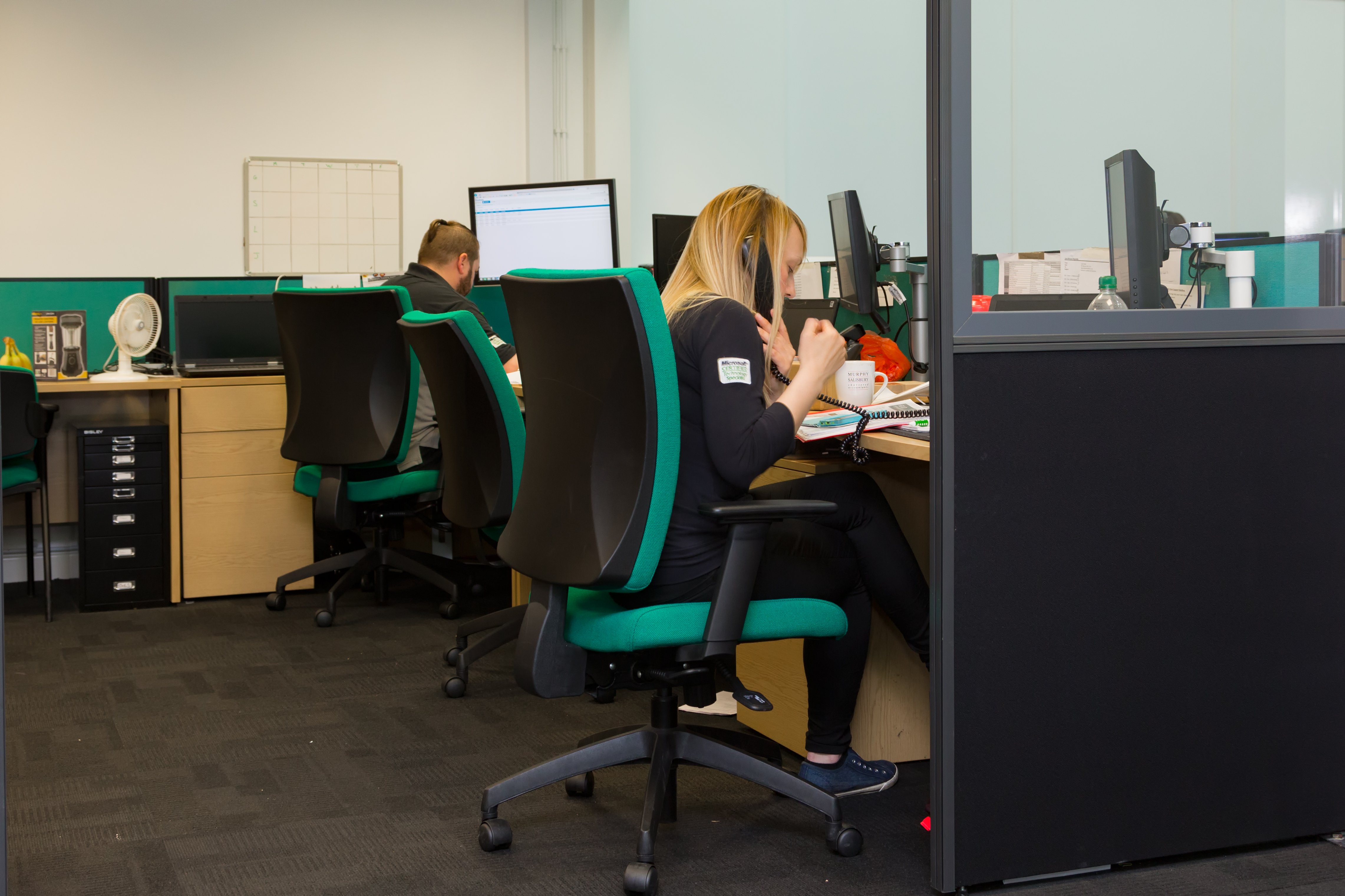 Emerald Engineers taking calls from customers requiring Business IT Maintenance and Mobile Support Solutions