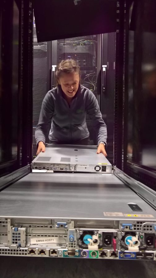 CEO Sarah Windrum in the data centre to ensure IT business continuity for customers