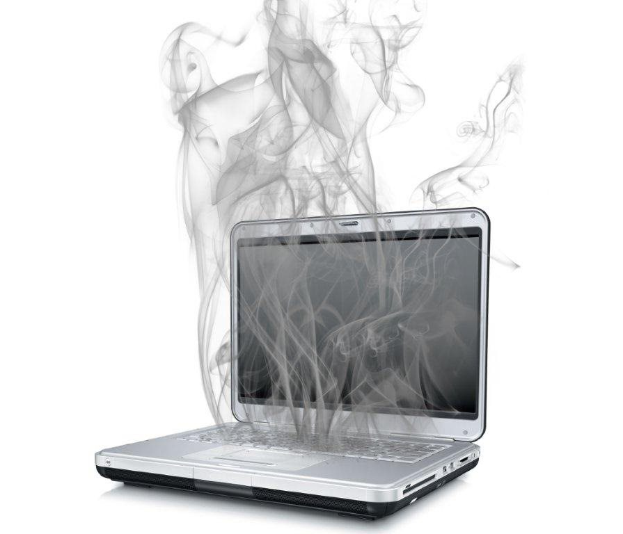 Graphic of a laptop with steam coming out as a reference to benefit of IT Data back up
